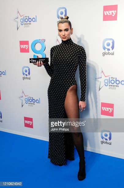 Dua Lipa winner of the Best British Act Award at The Global Awards 2020 at Eventim Apollo Hammersmith on March 05 2020 in London England