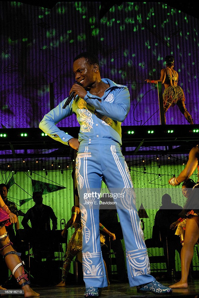 Duain Richmond performs at the 'Fela!' Opening Night at The