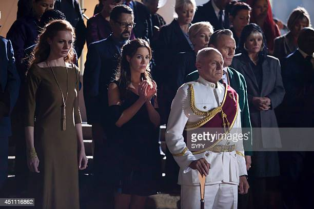 DOMINION Duality Episode 102 Pictured Rosalind Halstead as Senator Becca Thorn Roxanne McKee as Claire Riesen Alan Dale as Gen Riesen Anthony Head as...