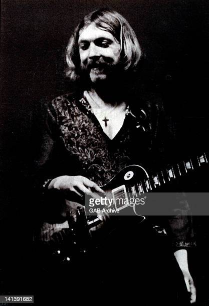 Duane Allman from The Allman Brothers performs live on stage circa 1970
