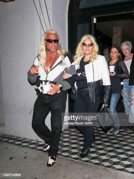 Duane Chapman and Beth Chapman are seen on November 26 2018 in Los Angeles California