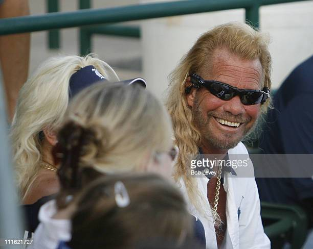 Duane Dog Chapman and Beth Chapman during Dog The Bounty Hunter Sighting at the Super Regionals in Houston June 9 2007 at Reckling Park in Houston...