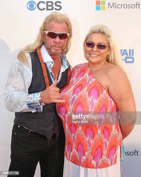 Duane 'Dog' Chapman and his wife Beth Chapman arrive at the CBS 'Hawaii Five0' Sunset On The Beach Season 6 Premire Event at Queen's Surf Beach on...