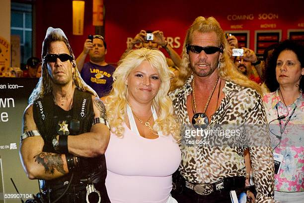 Duane 'Dog The Bounty Hunter' Chapman and his wife Beth at the book signing for 'You Can Run But You Can't Hide' at Borders bookstore in Hollywood...