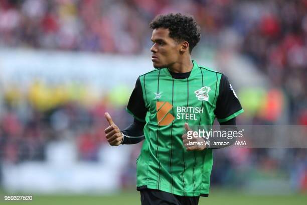Duane Holmes of Scunthorpe United during the Sky Bet League One Play Off Semi FinalSecond Leg between Rotherham United and Scunthorpe United at The...