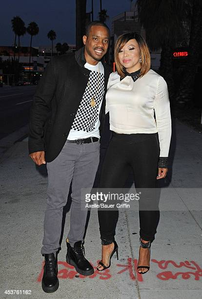 Duane Martin and actress Tisha Campbell attend Vivica A. Fox's 50th birthday celebration at Philippe Chow on August 2, 2014 in Beverly Hills,...