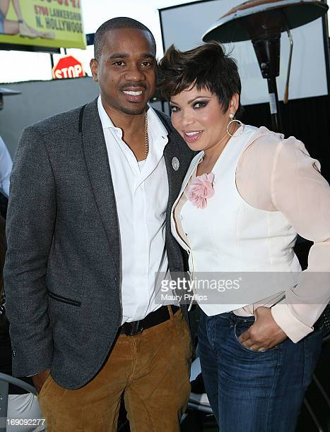 "Duane Martin and Tisha Campbell-Martin attend BET's ""Real Husbands of Hollywood"" Wrap Dinner at Xen Lounge on May 19, 2013 in Los Angeles, California."
