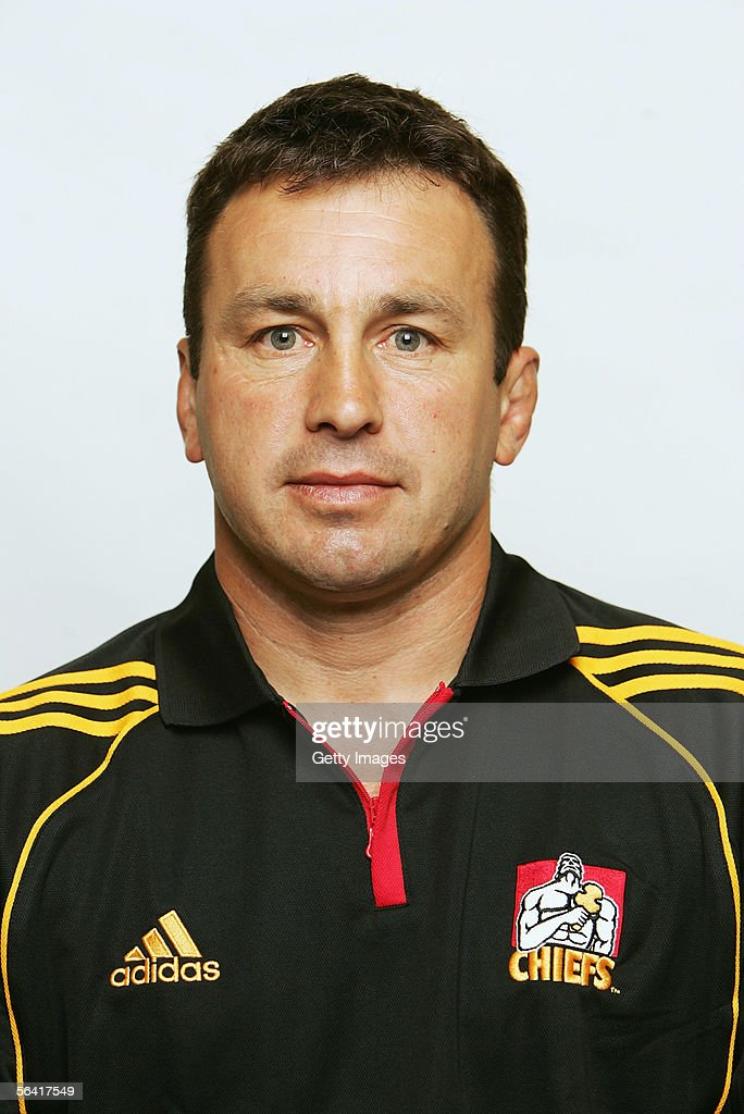 Duane Monkley, Assistant Manager of the Waikato Chiefs, poses during a team portrait session December 12, 2005 in Hamilton, New Zealand.