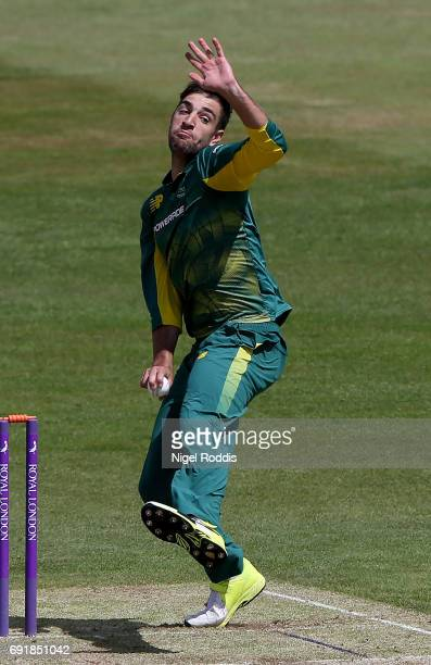 Duane Olivier of South Africa in action during the One Day International match between England Lions and SouthAfrica A at The County Ground on June 3...