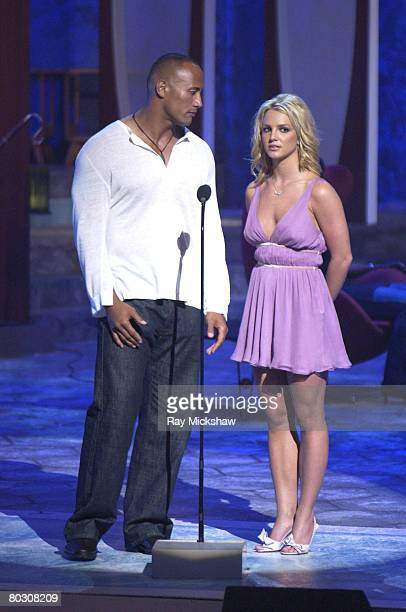 Duane 'The Rock' Johnson and Britney Spears present the Choice Movie Comedy Actress Award