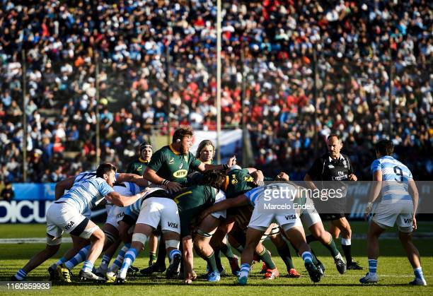 Duane Vermeulen of South Africa in action during a match between Argentina and South Africa as part of The Rugby Championship 2019 at Padre Ernesto...
