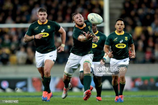 Duane Vermeulen of South Africa loses the ball during the 2019 Rugby Championship Test Match between New Zealand and South Africa at Westpac Stadium...