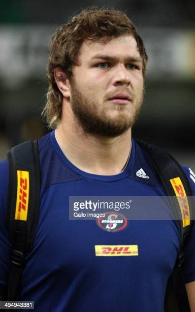 Duane Vermeulen of the DHL Stormers during the Super Rugby match between Cell C Sharks and DHL Stormers at Growthpoint Kings Park on May 31 2014 in...