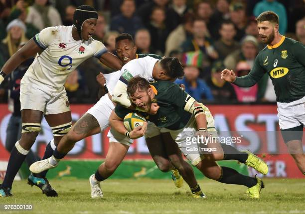 Duane Vermeulen of the Springboks in action during the 2018 Castle Lager Incoming Series match between South Africa and England at Toyota Stadium on...