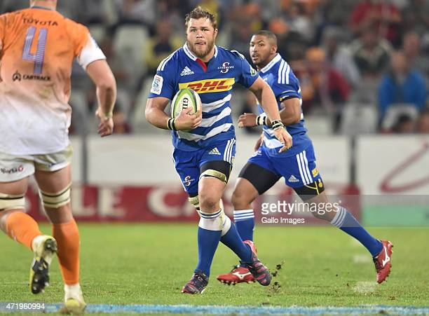 Duane Vermeulen of the Stormers during the Super Rugby match between Toyota Cheetahs and DHL Stormers at Free State Stadium on May 02 2015 in...