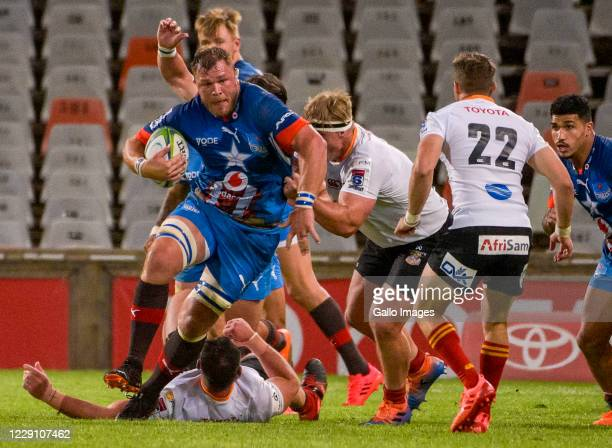 Duane Vermeulen of Vodacom Bulls during the Super Rugby Unlocked match between the Toyota Cheetahs and Vodacom Bulls at Toyota Stadium on October 16...