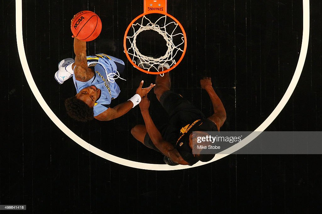 Duane Wilson #1 of the Marquette Golden Eagles drives to the net against the Arizona State Sun Devils at Barclays Center on November 24, 2015 in Brooklyn borough of New York City.