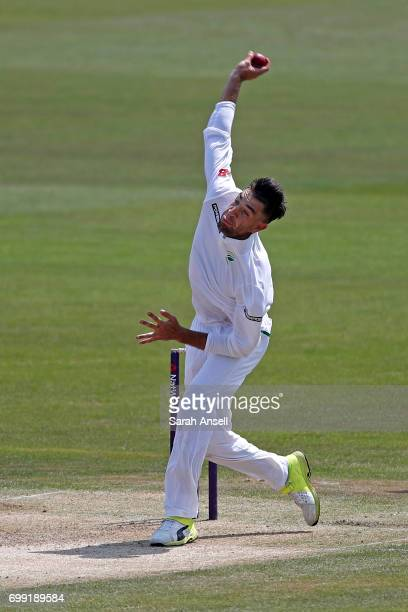 Duanne Olivier of South Africa A bowls during day 1 of the match between England Lions and South Africa A at The Spitfire Ground on June 21 2017 in...