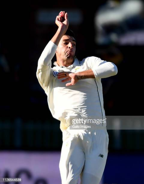 Duanne Olivier of South Africa during day 1 of the 2nd Castle Lager Test match between South Africa and Sri Lanka at St George's Park on February 21...