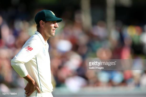 Duanne Olivier of South Africa during day 3 of the 2nd Castle Lager Test match between South Africa and Pakistan at PPC Newlands on January 05 2019...
