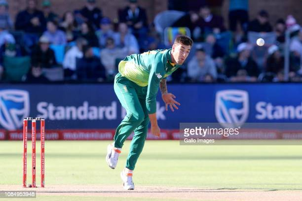 Duanne Olivier of South Africa during the 1st Momentum One Day International between South Africa and Pakistan at St Georges Park on January 19 2019...