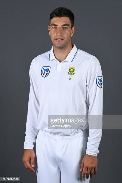 Duanne Olivier of South Africa poses for a portrait at Lord's Cricket Ground on July 4 2017 in London England