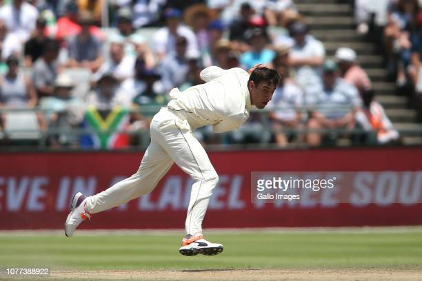 Duanne Olivier of South Africa sends down a delivery during day 3 of the 2nd Castle Lager Test match between South Africa and Pakistan at PPC...