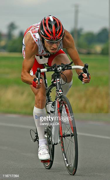 Duatlon competitor at a Belgian race in Elsegem on