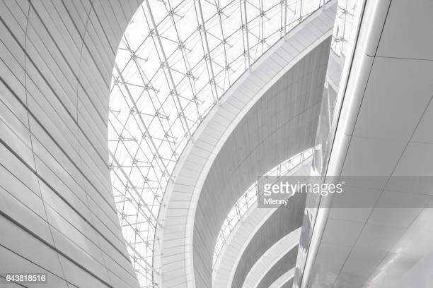 dubai airport modern architecture abstract - mlenny photography stock pictures, royalty-free photos & images