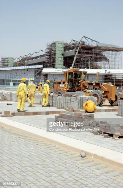 Dubai Autodrome under construction at the Dubailand, Dubai, United Arab Emirates, September 2004, Transforming 7,5km of sandy desert in the heart of...