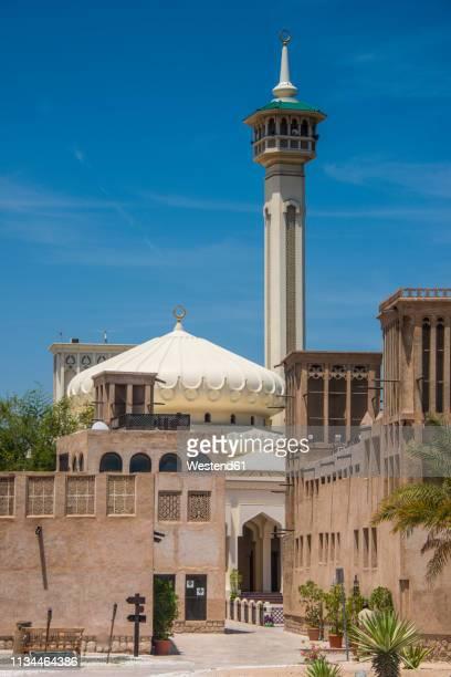 uae, dubai, bur dubai, al fahidi district, al bastakiya - minaret stock pictures, royalty-free photos & images