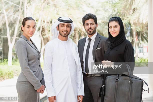 Dubai business team portrait