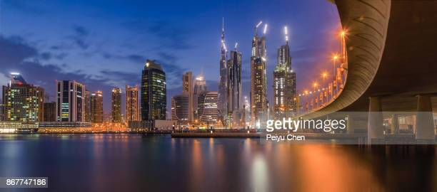 dubai canal - canal stock pictures, royalty-free photos & images