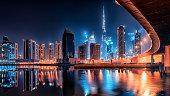 Dubai city by night