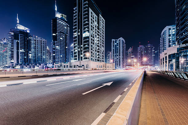 Dubai City Highway Wall Art
