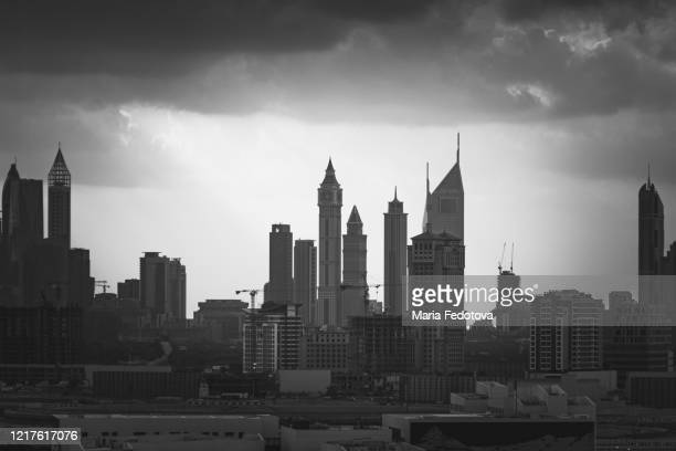 dubai city, view of financial centre - coronavirus uae stock pictures, royalty-free photos & images
