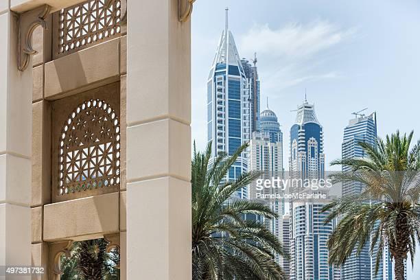 Dubai Cityscape, New Modern Skyscrapers and Contrasting Traditional Architecture