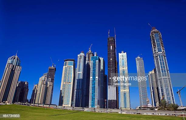 dubai cityscape - image stock pictures, royalty-free photos & images