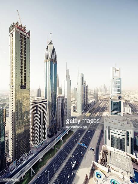 Dubai cityscape with Sheikh Zayed Road