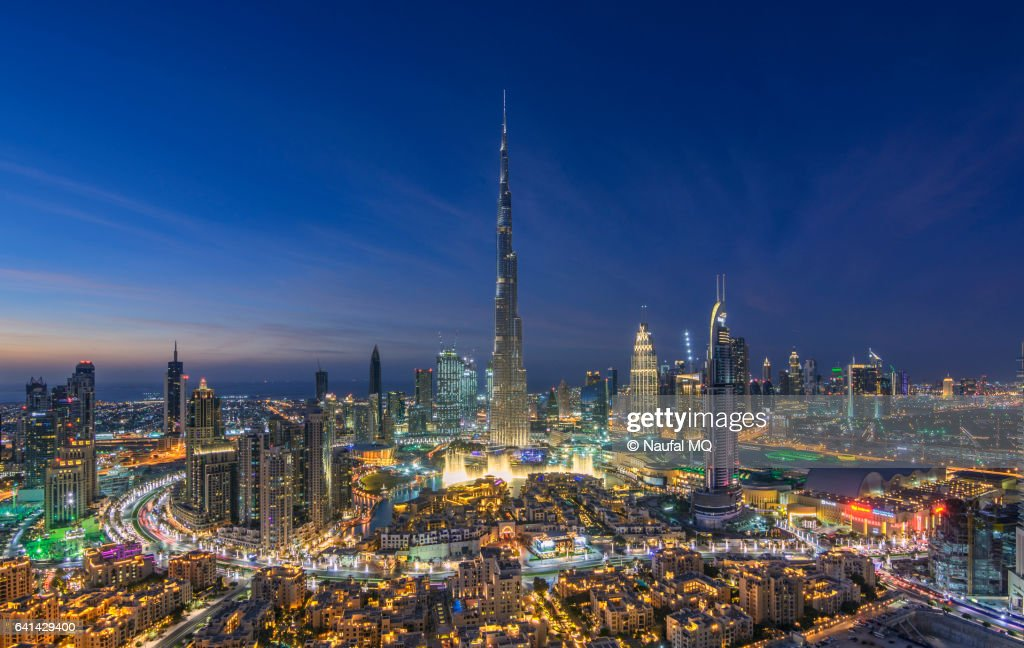 Dubai Downtown Skyline And Burj Khalifa Stock Photo | Getty Images