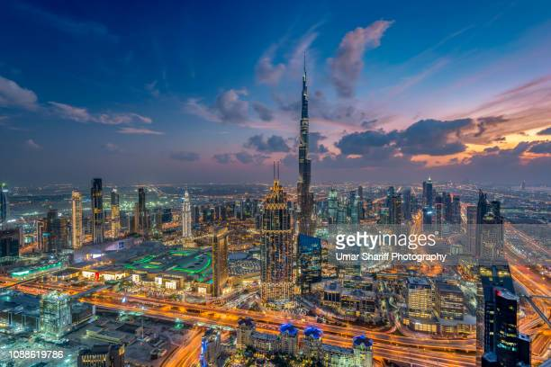 dubai downtown urban skyline - 2018 stock pictures, royalty-free photos & images