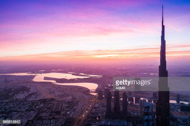Dubai Downtown Urban Skyline