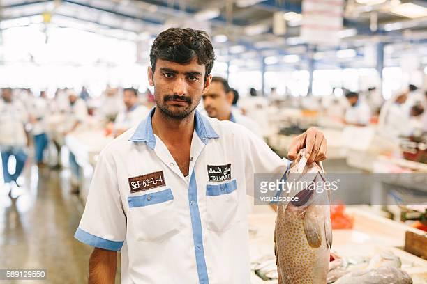 Dubai Fish Market Vendor Stock Photo - Getty Images