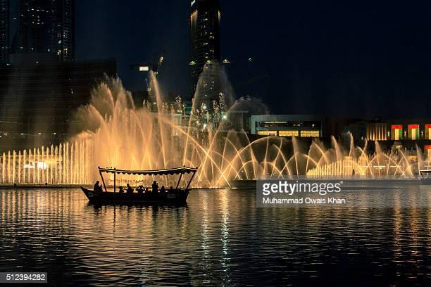 Dubai fountain lake ride. Dubai Mall, Dubai, UAE.