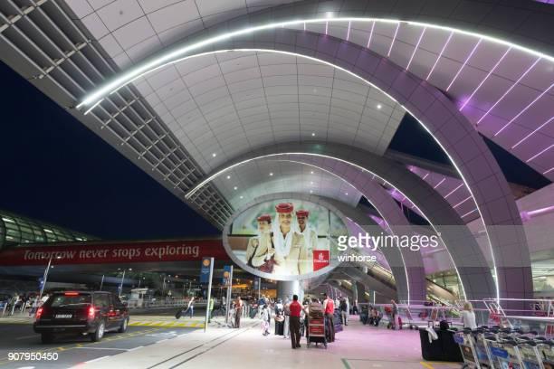 dubai international airport in united arab emirates - dubai airport stock photos and pictures