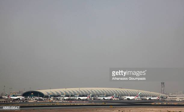 Dubai International Airport on August 12 2009 in Dubai United Arab Emirates