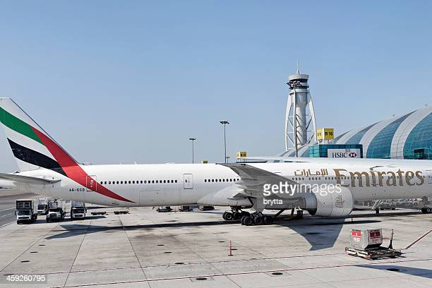 dubai international airport - emirates airline stock photos and pictures