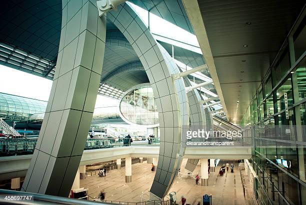 dubai international airport, united arab emirates - dubai international airport stock photos and pictures