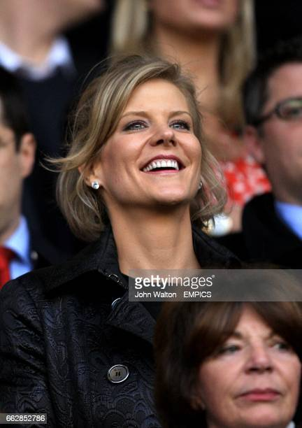 Dubai International Capital chief negotiator Amanda Staveley in the stands prior to kick off