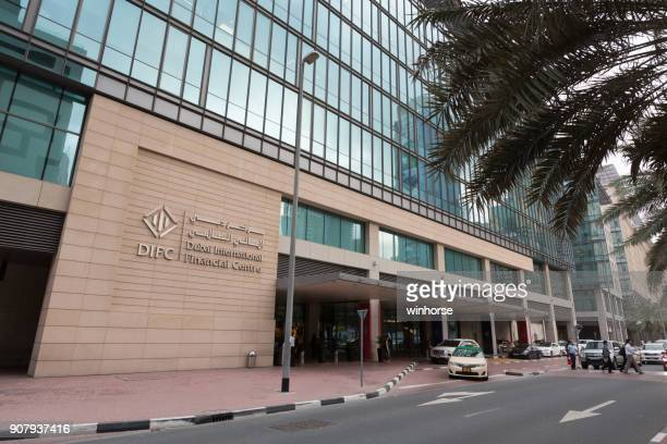 dubai international financial centre - bank financial building stock pictures, royalty-free photos & images